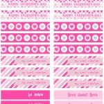 Free Valentines Day Printables  party flags  #valentines #pink #freebies  @Printable Party Shop  http://www.printablepartyshop.com