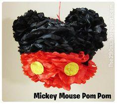 Mickey Mouse Pom Poms