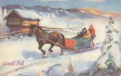 Julekort Thomas Frang utg Mittet brukt 1958