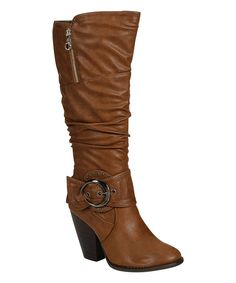 Look at this Brown Buckle Choice Boot on #zulily today!