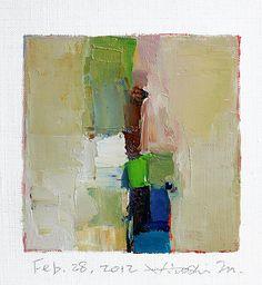 Feb 28 2012  Original Abstract Oil Painting  by hiroshimatsumoto