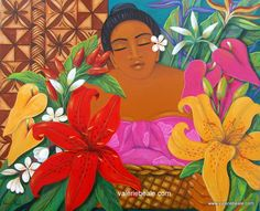 Flower Basket original Painting