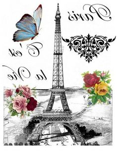 paris love you Foto Transfer, Transfer Paper, Images Vintage, Vintage Pictures, Vintage Labels, Vintage Cards, Image Paris, Paris Wallpaper, Decoupage Vintage