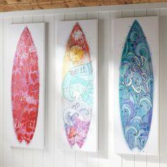Girls Surfboard Canvas Art