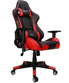 Kinsal Gaming Chair High-Back Computer Chair, Ergonomic Racing Chair, Leather Premium Lumbar Support Swivel Executive Office Chair Including Headrest and Massage Lumbar Pillow (red) Executive Office Chairs, Home Office Desks, Desk Chair, Gaming Chair, Best Ergonomic Office Chair, Amazon Price, Lumbar Pillow, Pillows, Leather