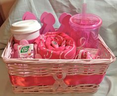 October is Breast Cancer awareness month! Do you know someone participating in the Breast Cancer Race for a cure this year? This basket has