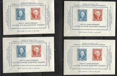 US # 948 - 1947 CIPEX Sheet - Imperforate Sheet Collection of 4 stamps MNH