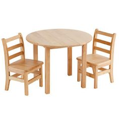 ECR4Kids Round Table and Two Chairs