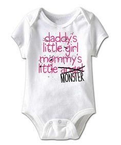 White 'Daddy's Little Girl' Bodysuit