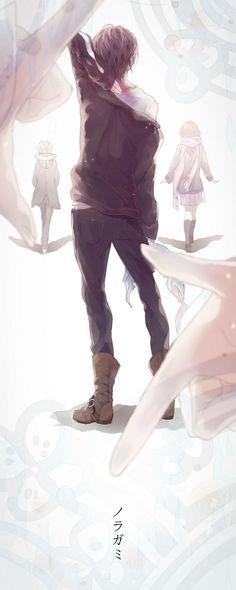 Noragami - Mamoru, Yato and Yukine - Anime Boys and Girl Yatogami Noragami, Anime Noragami, Manga Anime, Yato And Hiyori, Fanarts Anime, Manga Boy, Anime Characters, Anime Art, Vocaloid