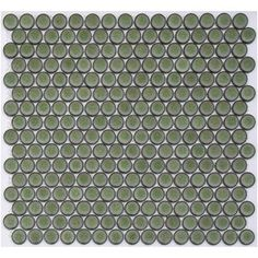 Grow Green - Lyric Glazed Porcelain Penny Tile at MosaicTileSupplies.com $11.25