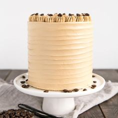 This Vanilla Latte Cake transforms a classic coffee beverage into a delicious dessert! Infused with espresso and vanilla, it is perfect for the coffee lover in your life.