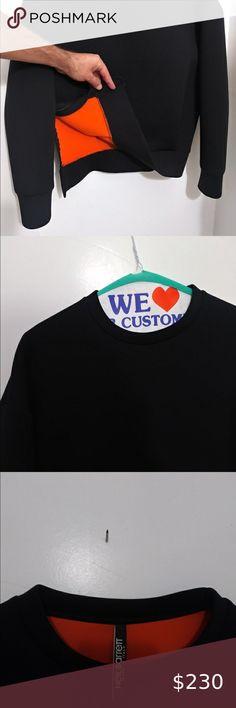 *BRAND NEW 100/% AUTHENTIC* Neil Barrett Orange Lightning T-Shirt Black