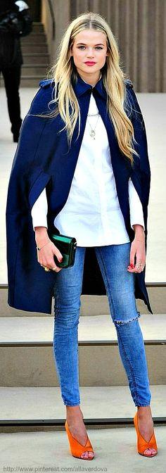 Blue Cape Coat