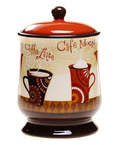 Attractively store gooey chocolate chip or crumbly thumbprint cookies in this charming jar. A timeless design and simple color make it easy to meld into any kitchen décor scheme. Cafe Kitchen Decor, Coffee Theme Kitchen, Kitchen Themes, Kitchen Ideas, Kitchen Stuff, Just Love Coffee, Online Shopping, Cocoa Tea, Coffee Bar Signs