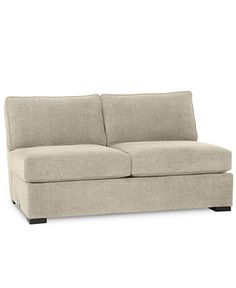 Radley Fabric Armless Apartment Sofa - Couches & Sofas - Furniture - Macy's