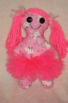 comes with removable tutu, visit our Huggable Lovable Doll page on Facebook!!