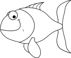 Free Image on Pixabay - Fish, Smiling, Cartoon, Animal Outline Pictures, Outline Images, Pictures To Draw, Free Clipart Images, Art Clipart, Free Images, Kids Art Class, Art For Kids, Smiling Fish