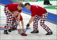 Three Norwegians. So many diamonds. The classiest pants in the Olympics