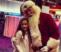 Zoe meeting Santa during Christmas at Gaylord Palms
