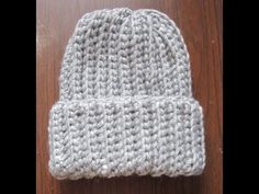 ▶ Crochet Ribbed Hat - YouTube