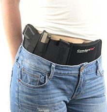 "Ultimate Belly Band Holster for Concealed Carry | Black | Fits Gun One size fits all - neoprene material stretches to fit up to a 46"" circumference. (Measu"