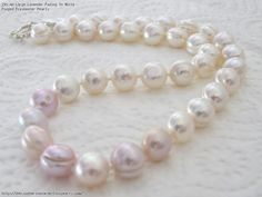 AA Large Lavender Fading To White Ringed Freshwater Pearls