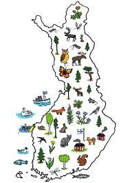 symbol map of Finland Finland Flag, Lapland Finland, Finnish Language, Geography For Kids, World Thinking Day, Postcard Book, Early Childhood Education, Pre School, Homeland