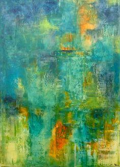 """Saatchi Online Artist: Barbara Pitcher; Oil, 2012, Painting """"deep under"""""""