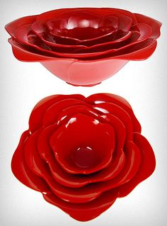 rose stacking bowls♥