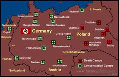 ... locations of principal concentration camps and extermination camps.  Just so I am clear  - this was my field of history in university.