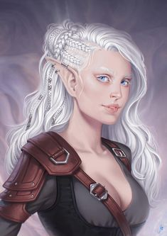character portraits Ayana by JuneJenssen on DeviantArt Fantasy Character Design, Character Creation, Character Concept, Character Art, Concept Art, Dnd Characters, Fantasy Characters, Female Characters, Fantasy Inspiration