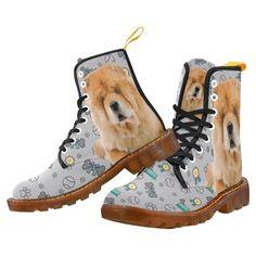 #TeeAmazing - #e-joyer Chow Chow Dog Black Boots For Men - AdoreWe.com