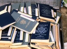 A box of passports. They were held from everyone to keep them from leaving Jonestown. Jonestown Massacre, States In America, North America, People Lie, Real Monsters, Military Personnel, The Rev, Modern History, Kool Aid