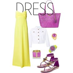 """""""Dress"""" by flower7lily on Polyvore #IceCarats http://www.icecarats.com/Italian-Design-14K-Yellow-Gold-Lace-Halo-Ring-with-Round-Amethyst-Size-5-665629.aspx"""