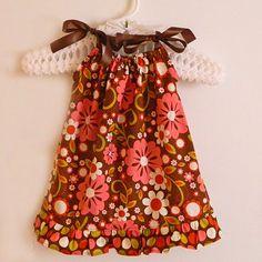 Pink & Brown Pillowcase Dress