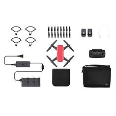 DJI Spark Drone -Fly More Combo With Remote & Accessories - Lava Red