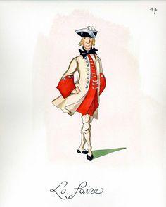 French Army 1735 - Infantry Regiment La Fere, by Gudenus.