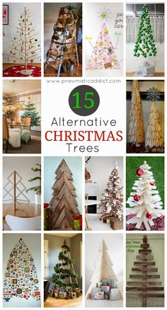 15 Alternative Christmas Trees. Get inspired to make your own DIY Christmas tree.