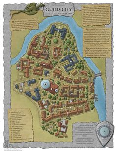 Guild City - Hustleflow Ward map was made for community project on Cartographer's Guild. It is one of many districts of the Cartographer's Guild City. Fantasy Map Making, Fantasy City Map, Fantasy Town, Fantasy World Map, Fantasy Rpg, Old Maps, Antique Maps, Plan Ville, Environment Map
