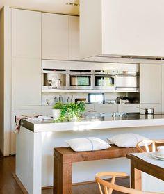 cool Claves para abrir la cocina al comedor o el salón y ganar metros y luz by http://www.coolhome-decorationsideas.xyz/stools/claves-para-abrir-la-cocina-al-comedor-o-el-salon-y-ganar-metros-y-luz/