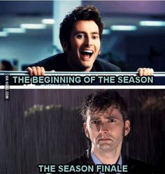Nothing describes the feeling at the end of a season quite as perfectly as a sad David Tennant in the rain.