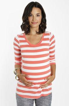 Essential stripe maternity t-shirt.