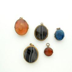 Antique Victorian Locket. Banded Agate. by TheDeeps on Etsy, $240.00