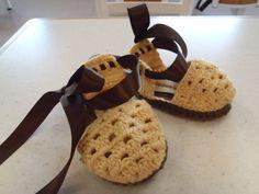 Sandalias de bebé ganchillo patrón