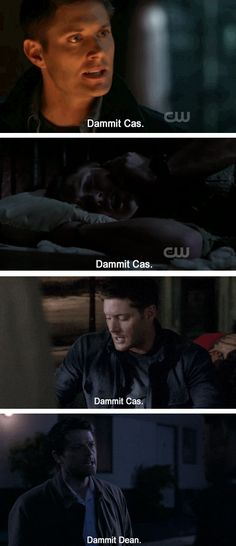 The tables are turned in 9.18 Meta Fiction, when Cas uses Dean's words on Dean.