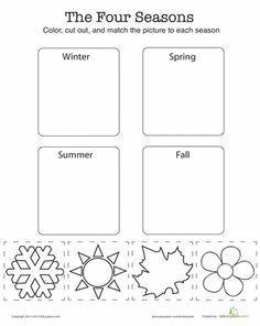 Match the Four Seasons | Worksheet | Education.com