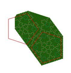 Como podemos ver haverá um padrão no Penrose. Mais especificamente pentágonos. Comecei desenhando flores e descobri esse padrão.