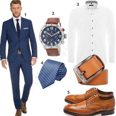 Elegantes Business-Outfit mit Marzotto Anzug (m0501)