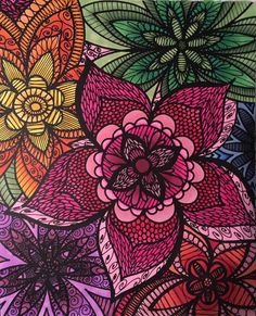 ColorIt Colorful Flowers Colorist Barbara Brown Adultcoloring Coloringforadults Adultcoloringpages